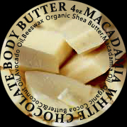 white chocolate macadamia body butter